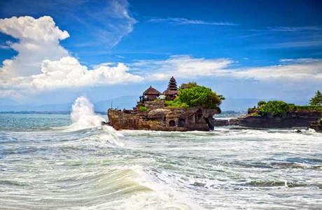 Det slående vackra Tanah Lot Temple