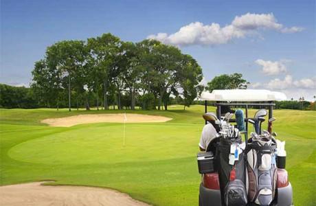 Spela golf på Bali